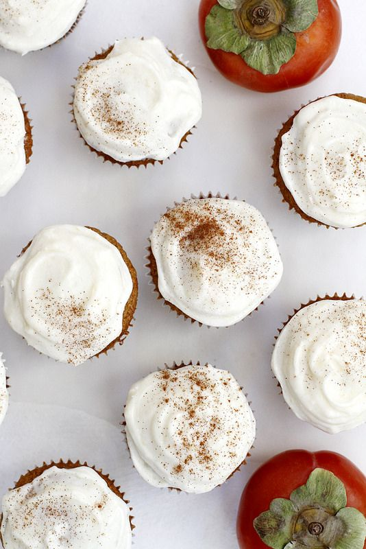 Persimmon Spice Cupcakes   Persimmons recipes and health benefits   Girlfriend is Better