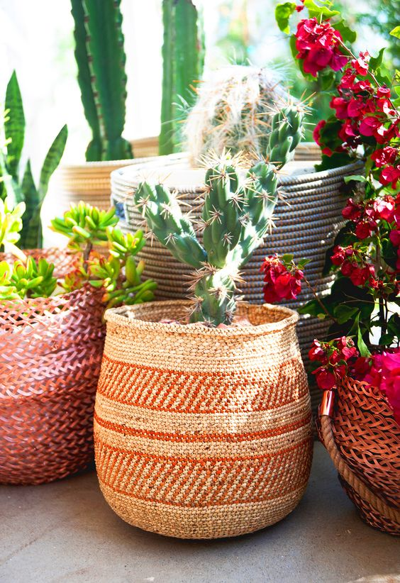 Sagittarius astrology home decor | Outdoor cactus ethnic basket | Girlfriend is Better