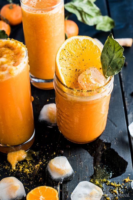 Winter smoothies | Orange Ginger Turmeric detox recipe | Girlfriend is Better