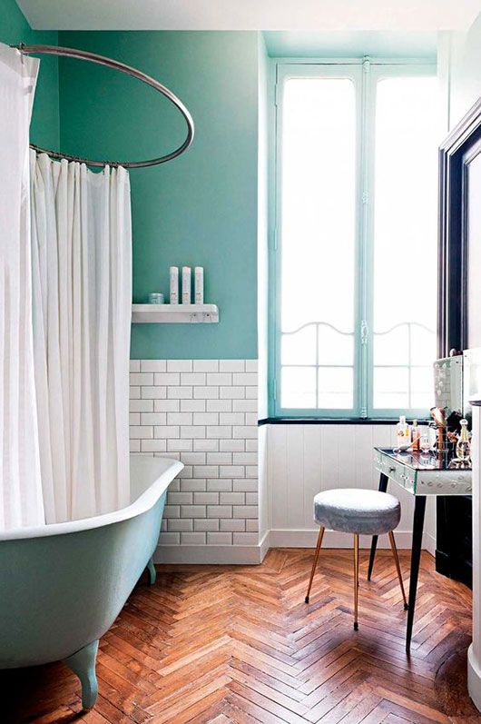 Teal bathrooms start your morning right | Girlfriend is Better