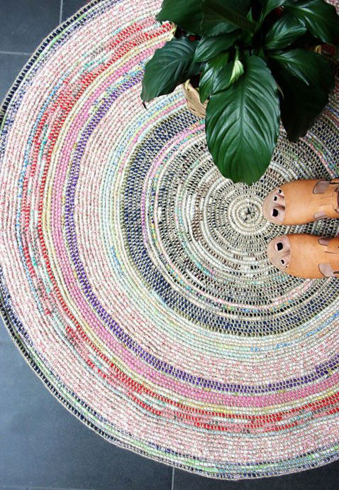 Spring Hygge decor | Scrap fabric rug | Girlfriend is Better