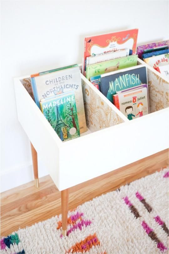 Organization ideas for kids room | DIY book bin | Girlfriend is Better