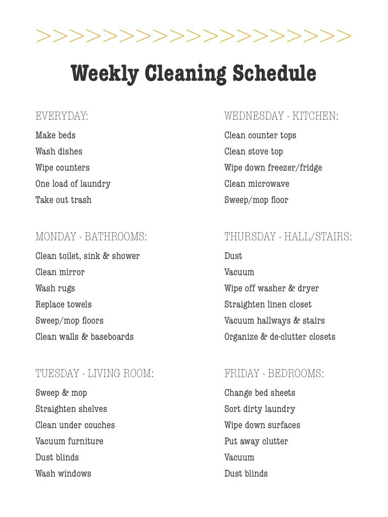 Weekly Cleaning Schedule | Cleaning lists tips and tricks for easy housework | Girlfriend is Better