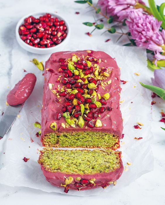 Pistachio Cardamom Rose Loaf | Rose Recipes vegan gluten-free | Girlfriend is Better