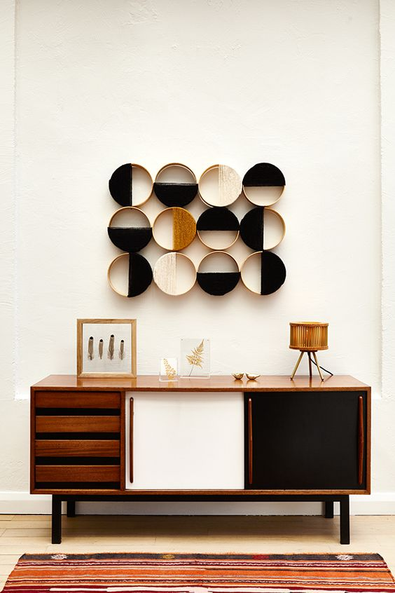 console styling mid-century modern | October Halloween minimalism | Girlfriend is Better