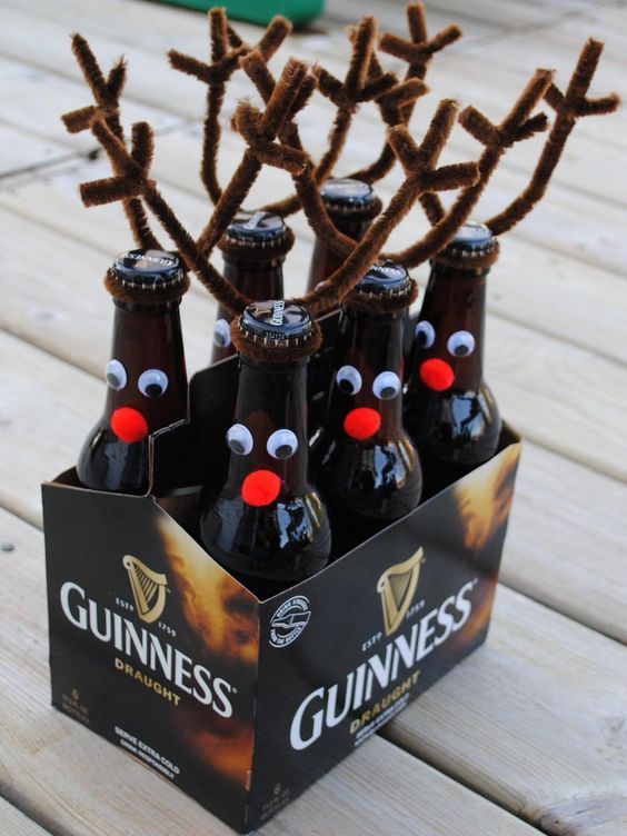 DIY Christmas gifts | six pack o'Reindeer Guinness beer | Girlfriend is Better