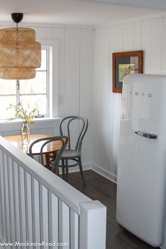 SMEG | White fridge in cottage | Girlfriend is Better