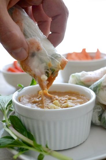 Spring Rolls recipe | Peanut sauce dipping healthy shrimp rice paper wrap | Girlfriend is Better