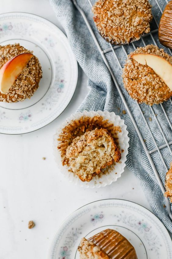 breakfast bites | Peach Muffins oats Greek yogurt | Girlfriend is Better