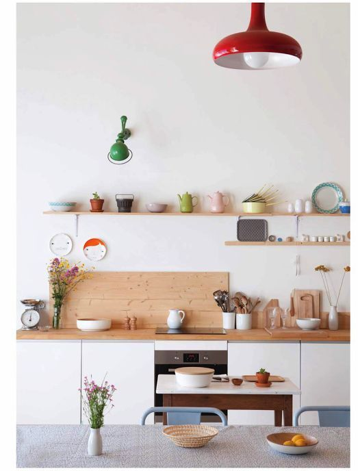 color blocking decor | minimalism kitchen hygge open shelving | Girlfriend is Better