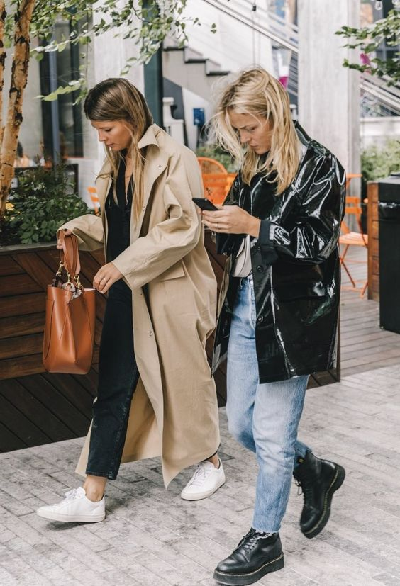 barrel jeans | trench coats combat boots high-water pants | Girlfriend is Better