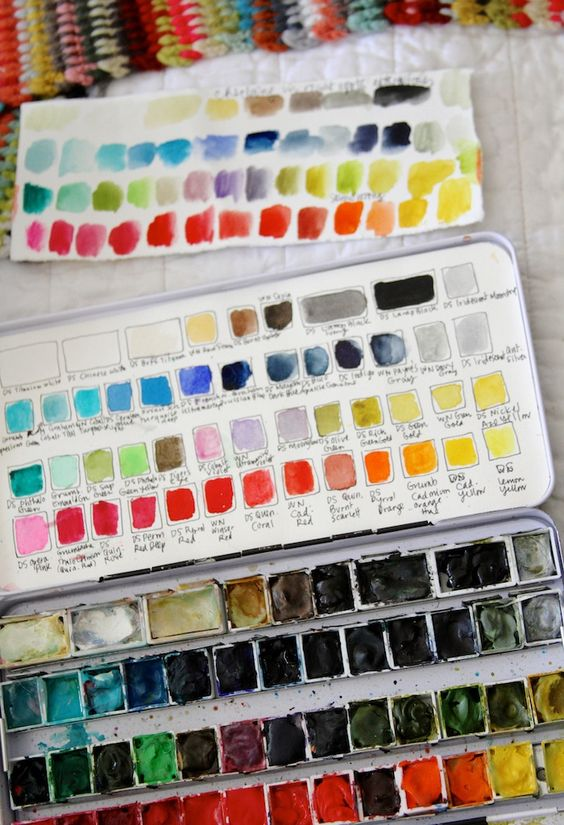 watercoloring | paint palette student kit swatches guide | Girlfriend is Better