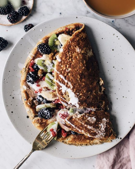 oats recipes   Power Breakfast Pancakes with Oat and Banana   Girlfriend is Better